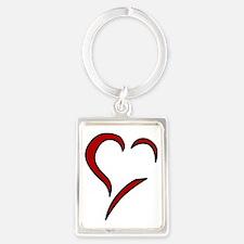 Heart Portrait Keychain