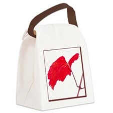 Red Grape Leaf Canvas Lunch Bag