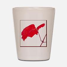 Red Grape Leaf Shot Glass
