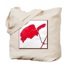 Red Grape Leaf Tote Bag