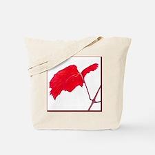 Red Grape Leaf Tote Bag
