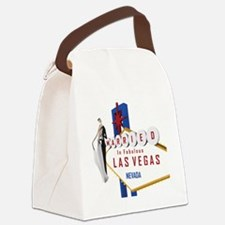 Married In Las Vegas Canvas Lunch Bag