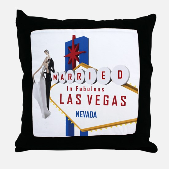Married In Las Vegas Throw Pillow