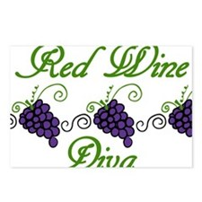Red Wine Diva Postcards (Package of 8)