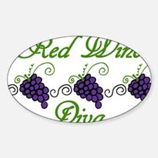 Red Wine Diva Decal