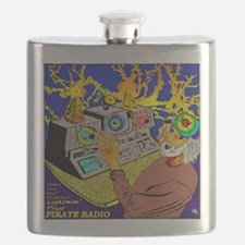 Lightnin' Fried PIRATE RADIO Crescent City,  Flask