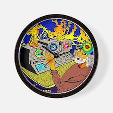 Lightnin' Fried PIRATE RADIO Crescent C Wall Clock