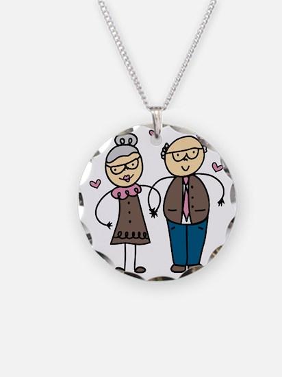 Elderly Couple Necklace