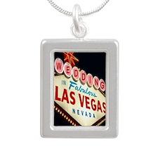 Wedding In Las Vegas Silver Portrait Necklace