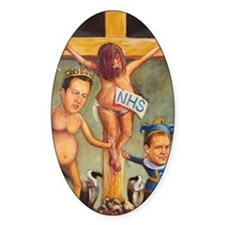 Cameron  Clegg: Crucifying the NHS Decal