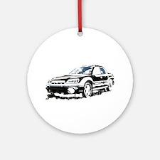 Black Subaru Baja Ornament (Round)