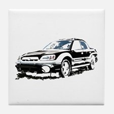 Black Subaru Baja Tile Coaster