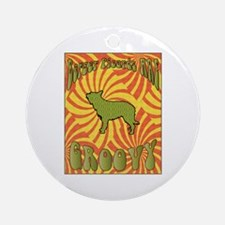 Groovy Berger Ornament (Round)