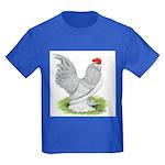 Self Blue Rooster Kids Dark T-Shirt
