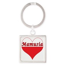Mamusia Polish Heart Square Keychain