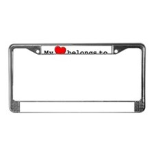 My Heart Belongs To Emilee License Plate Frame