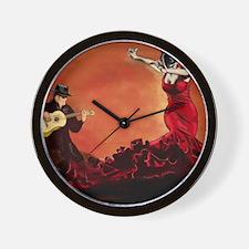 Flamenco Dancer and Guitarist Wall Clock