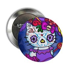 """Katrina Kitty 2.25"""" Button"""