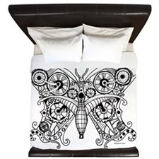 Steampunk Butterfly King Duvet