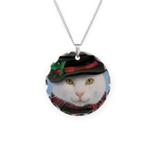 Snowcat Christmas Necklace