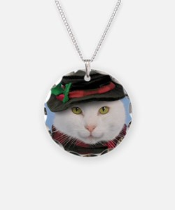 Snowcat Christmas Necklace