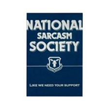 National _ sarcasm _ Society Rectangle Magnet