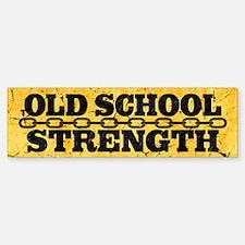 Old School Strength Sticker (Bumper)