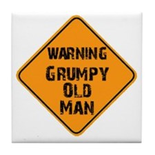 the _ grumpy _ old _ man Tile Coaster