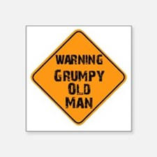 "the _ grumpy _ old _ man Square Sticker 3"" x 3"""