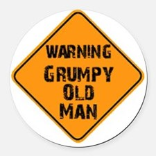 the _ grumpy _ old _ man Round Car Magnet