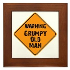 the _ grumpy _ old _ man Framed Tile