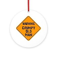 the _ grumpy _ old _ man Round Ornament