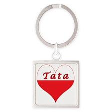 Tata Polish Heart Square Keychain