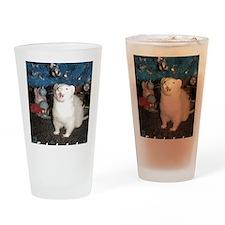 Caroling Ferret Drinking Glass