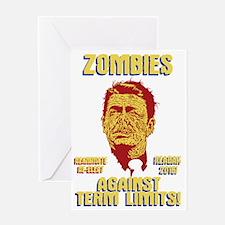 reagan-zombie-DKT Greeting Card
