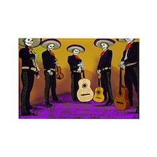 Mariachi Dia de los Muertos Band Rectangle Magnet