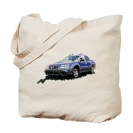 Blue Subaru Baja Tote Bag