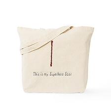 SuperHeroKidScar_White Tote Bag