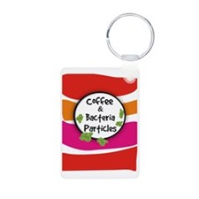 Coffee and Bacteria Partic Keychains