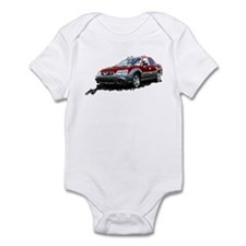 Red Subaru Baja Infant Bodysuit