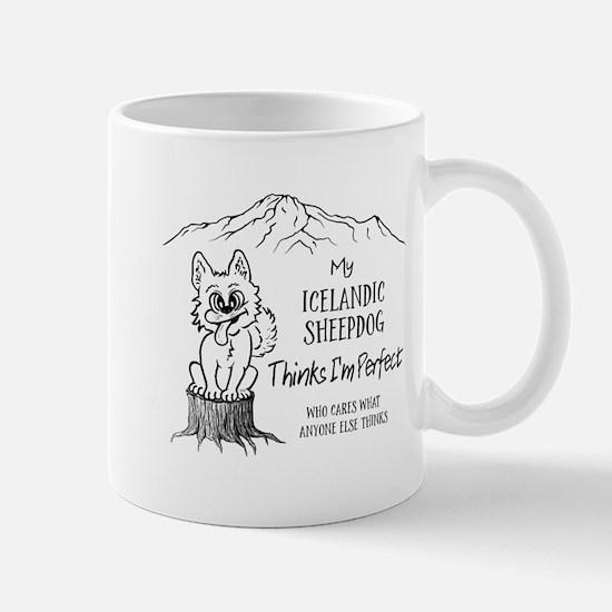 My Icelandic Sheepdog thinks I'm perfect Mugs