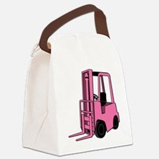 Pink Forklift Canvas Lunch Bag