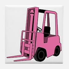 Pink Forklift Tile Coaster