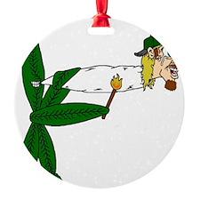 Smoking Pot Leaf Ornament