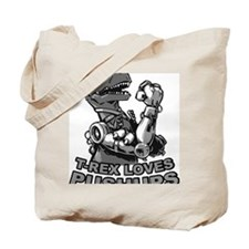 T-Rex With Robot Arms Tote Bag