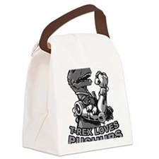 T-Rex With Robot Arms Canvas Lunch Bag