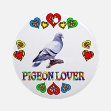Pigeon Lover Round Ornament