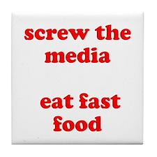 Fast Food Tile Coaster