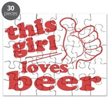 This Girl Loves Beer Puzzle