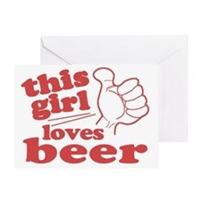This Girl Loves Beer Greeting Card